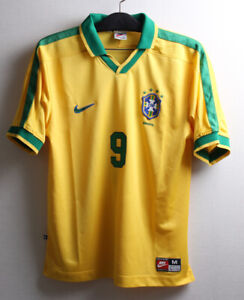1997 Brazil Home S/S No.9 RONALDO Nazário 97 Copa America jersey trikot maglia