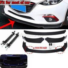 Universal Car Front Bumper Lip Spoiler Splitters Struts Rod Support Tie Bar Kit