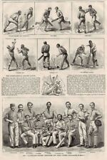All England Eleven English Cricket Cricketers Team In US, Team Portrait 1868