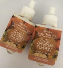 Bath And Body Works Wallflower Refill Sweet Cinnamon Pumpkin Lot 2 New