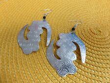 BOHO African Ethnic Jewelry ANDINKRA GYE NYAME ETCHED PENDANT EARRINGS