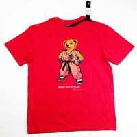 Hudson outwear mens 100% authentic S/S t-shirt size large red saiyan bear