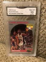 1990 NBA Hoops #270 David Robinson San Antonio Spurs HOF GMA 10 GEM MINT