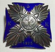RARE Poland Infantry Warrant Cadet Corp officer SILVER badge original polish