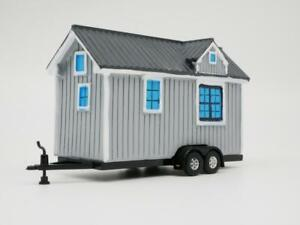 TINY HOUSE GRAY OREGON STYLE TRAILER  1:64 SCALE  DIECAST COLLECTORS MODEL