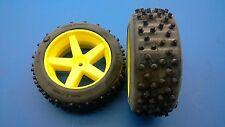 SLD Spyke-Reifen verklebt auf gelben Felgen für FG Marder