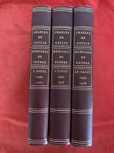 RARE / HC- CHARLES DE GAULLE - MEMOIRES DE GUERRE - TRILOGIE - NUMEROTE - 1969