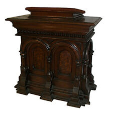 American Gothic Revival 19th C. Walnut pedestal/Podium with Burl Venee #7243