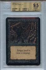 MTG  Alpha Evil Presence  BGS 9.5 Gem Mint Card Magic  WOTC Amricons 7675