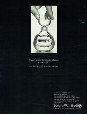 Publicité Advertising 099 1969   parfum eau toilette Masumi  par Coty