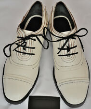 Authentic Alexander Wang Cream Elle leather brogues low shoes, new, store demo