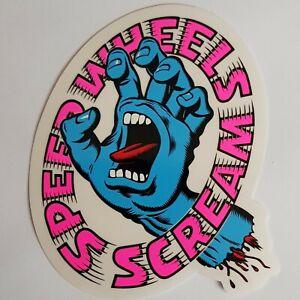 SANTA CRUZ Screaming Hand 'Speed Wheels Scream' Skate Sticker / Skateboard