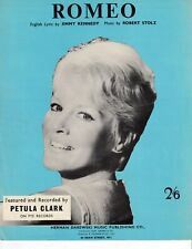 Romeo - Petula Clark - 1961 Sheet Music