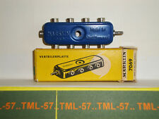 Voie MARKLIN HO - Plaque de derivation 8 sorties - Bleue boite Jaune - Ref 7069