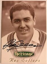 1995 FUTERA HERITAGE CRICKET COLLECTION CARD N0 56/60 SIGNED REX SELLERS