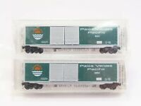 N Scale Micro-Trains MTL Palos Verdes Pacific 50' Box Car 2-Pack - SEALED