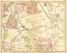 LONDON SE. Rushey Green Grove Park Catford Sydenham Beckenham Bromley 1925 map