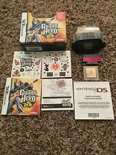 Guitar Hero: On Tour (Nintendo DS) game with pick, grip,stickers, manual and box