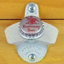 BUDWEISER BUD BEER 60s Vintage Bottle Cap Starr X Wall Mount Bottle Opener NEW!