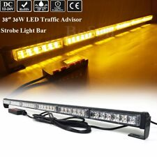 "38"" Led Traffic Advisor Emergency Warning Flashing Safety Strobe Lightbar Amber"