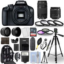 Canon EOS 4000D / Rebel T100 DSLR Camera + 18-55mm + 75-300mm + 30 Piece Bundle