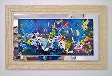 Francesco Toraldo olio e acrilico su tavola 30x60 cm