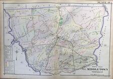 1913 NORTH MIDDLETOWN, PENNSYLVANIA, CUMBERLAND CEMETERY COPY PLAT ATLAS MAP