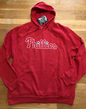 Philadelphia Phillies Mens Hoodie Size XL Nwt Red Stitches Sweatshirt