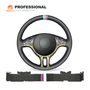 Custom Genuine Leather Steering Wheel Cover Wrap for BMW 3 Series E36 E46 X5 E53