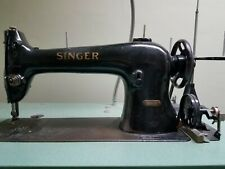 Vintage Singer Model 96-10 Sewing Machine with Table, Motor, and Pedals