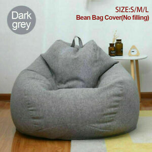 Extra Large Bean Bags Chairs Adults Couch Sofa Cover Lazy Cotton No filling Soft