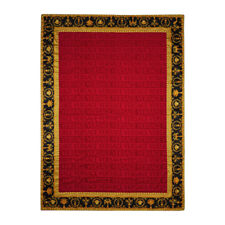 "Versace Baroque Jacquard Medusa Bath/Beach Towel Red - 76.77"" x 57.09"""
