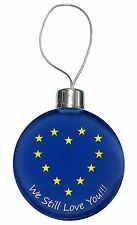 British Brexit, Europe 'We Still Love You' Christmas Tree Bauble De, BRITISH-4CB