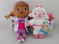 "2PCS NEW DISNEY Doc McStuffins Hallie & Lambie 8"" Plush Stuffed Toy"