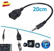 Cable audio de Jack a Usb hembra AUX auxiliar auriculares radio Coche Mp3 para