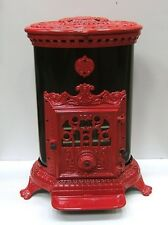 NEW French 7kw Godin 3726 Stove Cast Iron Wood Coal Burner multifuel Oval Red