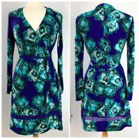 Simply Vera Wang Women's Dress S Sm Wrap Stretch V-neck Career Work