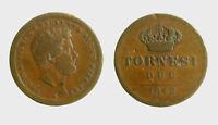 s544_51) Napoli Due Sicilie Ferdinando II (1830-1859) 2 Tornesi 1842