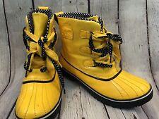 Sorel Women's Tivoli Yellow Rain Boots US Sz 11 Duck