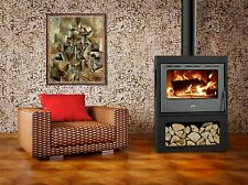 Wood Burning Stove Fireplace Three Glasses Log Burner Solid Fuel Prity PM3 13kw