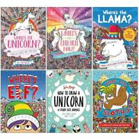 Where's The Unicorn Search and Find Activity 6 Books Collection Set Sloth Super