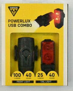 Topeak Taillux 25/100 Lumen USB Tail Light Rechargable 40 hour TMS098 Ships USA!
