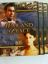 WAR AND PEACE (DVD, 3DISC SET W/Box) Academy Award Winner-Best Foreign Film 1968