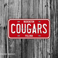 Washington State University Cougars Pullman License Plate