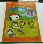 Vintage 1987 Golden Snoopy and Friends Sticker Fun