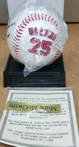 Mark Mcgwire 25 Replica Signature Baseball Collector Avon Home Run King COA