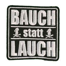 Bügel Aufnäher Bauch statt Lauch lustige Spruch sprüche witzige patch kutte