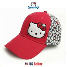 Sanrio Hello Kitty Adjustable Golf Cap Basic Mesh Back : Red