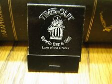 Vintage Time-Out Sports Bar & Grill Lake Of The Ozarks Missouri Matchbook