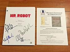 MR. ROBOT SIGNED PILOT SCRIPT BY x4 CAST MEMBERS - RAMI MALEK w/ BECKETT BAS COA